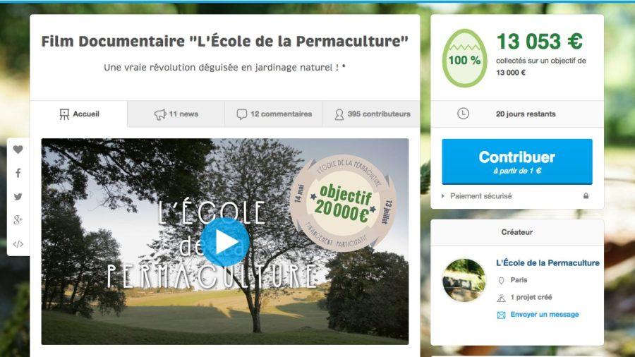 L'École de la Permaculture financé à 100% sur Ulule